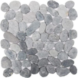 Picture of Grey Stone Pebble Mosaic Sheet | 300 x 300mm | Order Online | South Africa