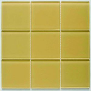 Picture of Butter Shiny Glass Mosaic Sheet | 300 x 300mm | Order Online | South Africa