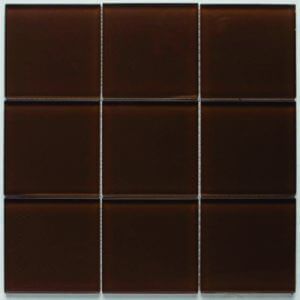 Picture of Chocolate Shiny Glass Mosaic Sheet | 300 x 300mm | Order Online | South Africa