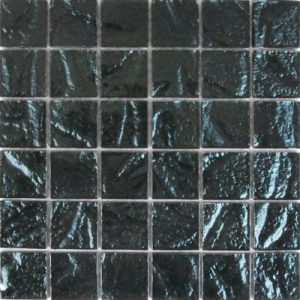 Picture of Black Shiny Textured Glass Mosaic Sheet | 300 x 300mm | Order Online | South Africa