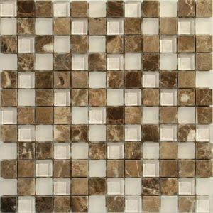 Picture of Stone Glass Brown Mix Mosaic Sheet | 300 x 300mm | Order Online | South Africa