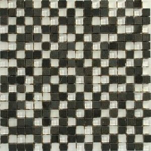 Picture of White Black Stone Glass Mix Mosaic Sheet | 300 x 300mm | Order Online | South Africa
