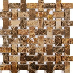 Picture of Brown Natural Stone Matt Mix Mosaic Sheet | 300 x 300mm | Ordr Online | South Africa