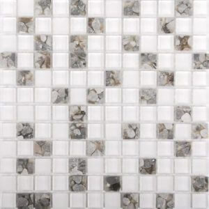 Picture of Polar White Shiny Glass Mosaic Sheet | 300 x 300mm | Order Online | South Africa