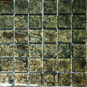 Picture of Nature Green/Brown Shiny Glass Mosaic Sheet | 300 x 300mm | Order Online | South Africa