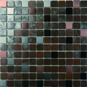 Picture of Iron Look Shiny Porcelain Mosaic Sheet | 300 x 300mm | Order Online | South Africa
