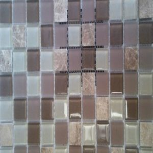 Picture of Grey Mix Brown Shiny Glass Mosaic | 300 x 300mm | Order Online | South Africa