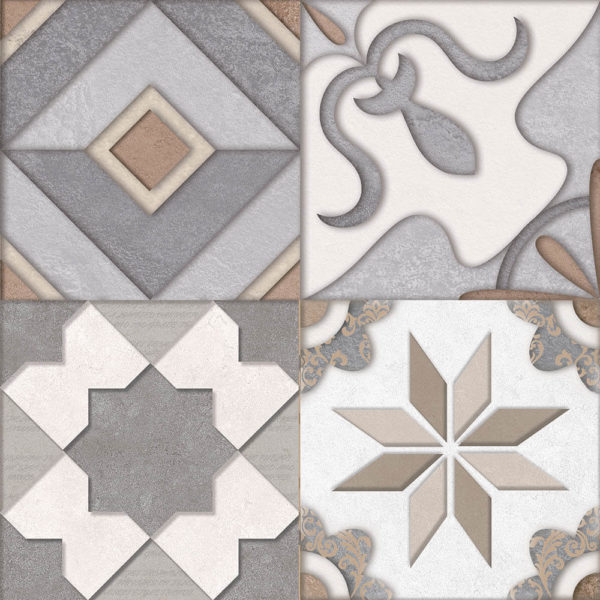 Picture of Abstract Grey Matt Pattern Ceramic Floor/Wall Tile | 400 x 400mm | Order Online | South Africa