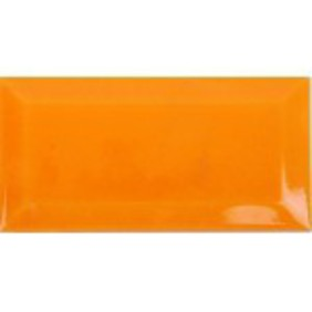 Picture of Orange shiny Ceramic subway wall tile | 75 x 150mm | Order Online | Tiles4all