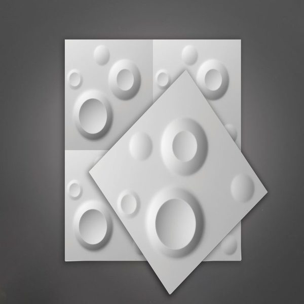 Picture of Champagne White Matt 3D Wall Art | 500 x 500mm | Order Online | South Africa