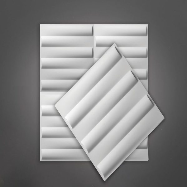 Picture of Passions Matt White Rectangular 3D Wall Art | 500 x 500mm | Order Online | South Africa