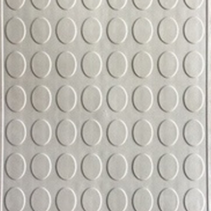 Picture of White rubber interlocking floor tile | 330 x 330mm | Buy Online | South Africa