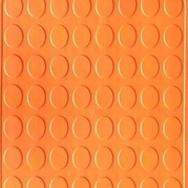 Picture of Orange rubber interlocking floor tile | 330 x 330mm | Buy Online | South Africa