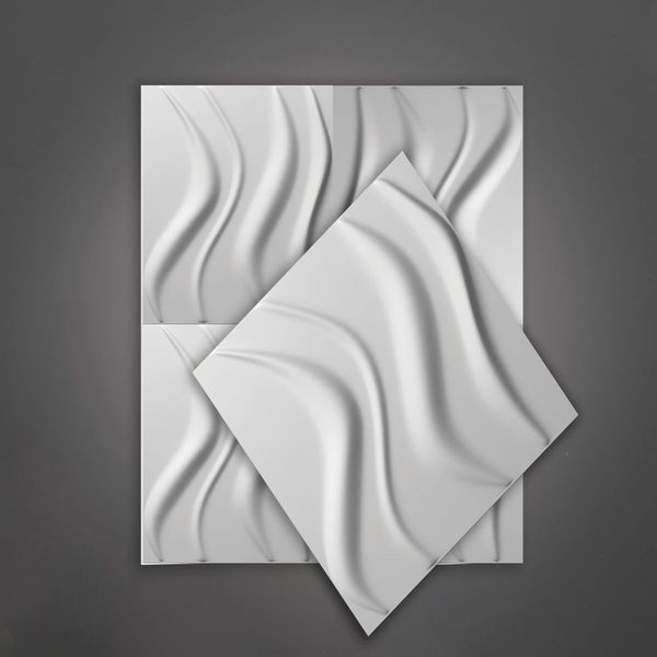 Wave Ceiling Polystyrene Sheets 3D Wall Art 1200mm x 954mm | Buy Online | South Africa Tiles 4 All