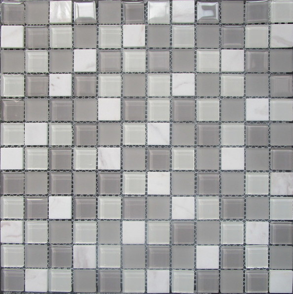 Grey White Mix Mosaic Sheet 300 x 300mm | Buy Online | South Africa Tiles 4 All