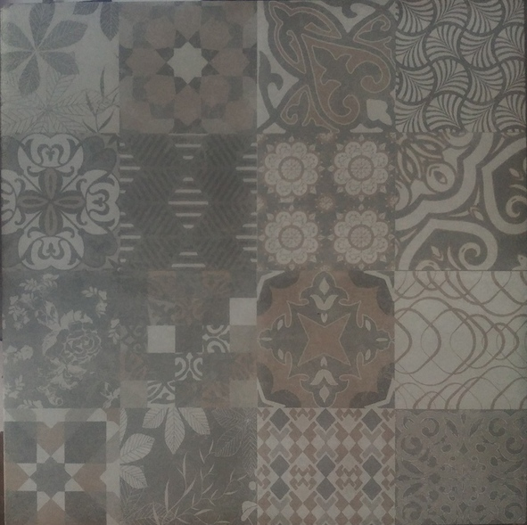 Picture of Multi Pattern Brown Grey Matt Ceramic Floor Wall Tile | 330 x 330mm | Order Online | South Africa Tiles 4 All