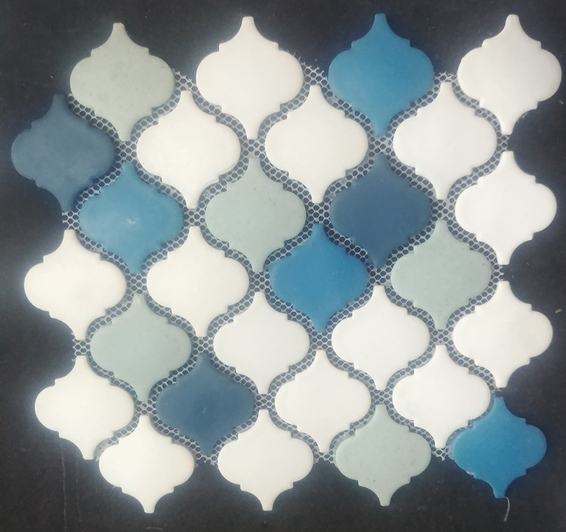 Picture of White Blue Mix Mosaic Sheet | 300 x 300mm | Order Now | South Africa Tiles 4 All