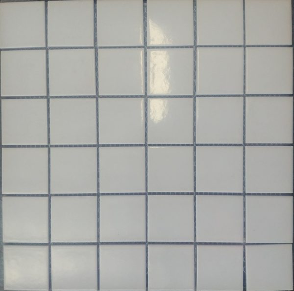 Picture of White Shiny Ceramic Mosaic Sheet | 300 x 300mm | Order Online | South Africa Tiles 4 All