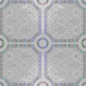 Picture of White Silver Flower PVC Ceiling Board 3900 x 300 x 6mm   Buy Now   Tiles 4 All