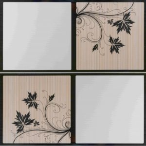 Picture of White Silver Leaf PVC Ceiling Board 3900 x 300 x 6mm   Buy Now   Tiles 4 All