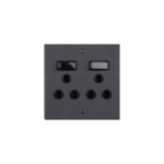 Picture of 100X100 DBL Socket Matt Black