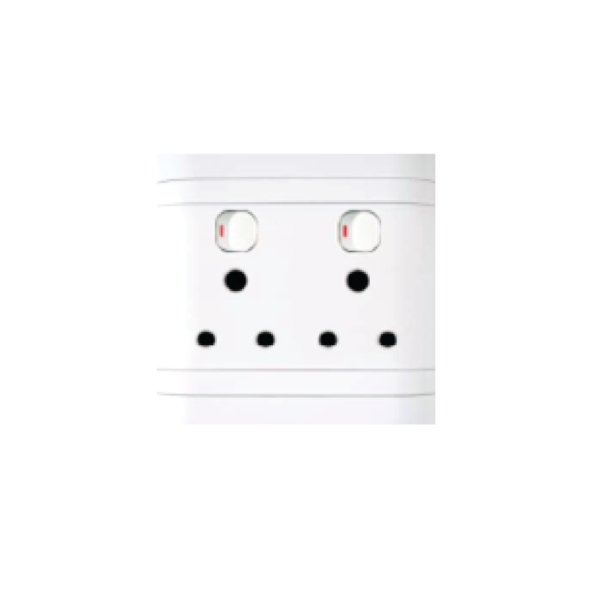 Picture of 100X100 Double Socket LESCO White