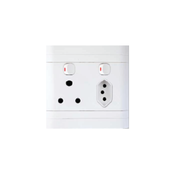 Picture of 100X100 Double Socket 1x16A + 1IEC
