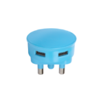 Picture of USB ADAPTOR DBL 2.1A BLUE