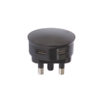 USB APicture of ADAPTOR DBL 2.1A BLACK